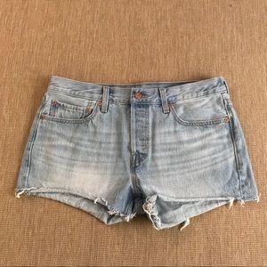 Levi's Cut Off Denim Shorts Daisy Duke Jeans 30
